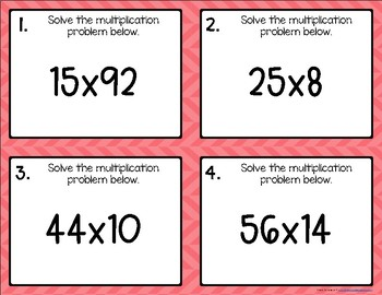 Multiplying {for Beginners} Task Cards