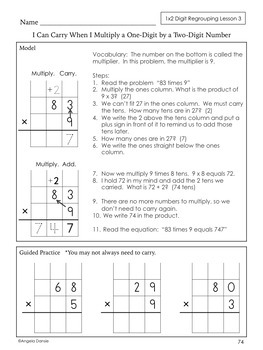 Multiplication for Special Ed and Intervention, One-Digit by Multi-Digit Ch. 5