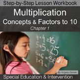 Multiplication Concepts & Factors to 10 | Special Education Math | Intervention