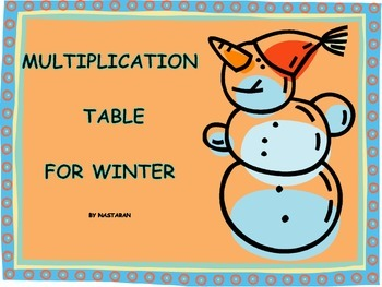 Multiplication Table for Winter