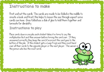 Multiplication game nine times tables- Leap Frog