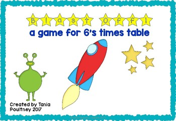 Multiplication game six times tables