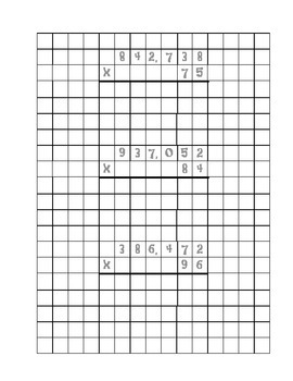Montessori Checkerboard Multiplication (Advanced)