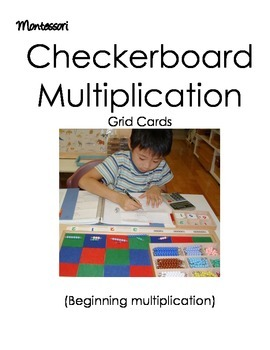 Montessori Checkerboard Multiplication (beginners)