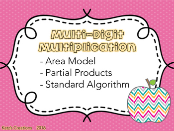 Multiplication in 3 ways: Area Model, Partial Products, Standard Algorithm