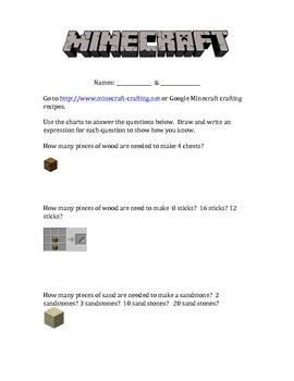Multiplication in Minecraft Crafting