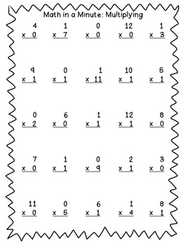 Math in a Minute: Multiplication (0-12)