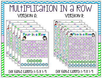 Multiplication in a Row Station Game - TEKS 3.4F, 3.4G, 4.4D