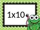 Multiplication leap frog game