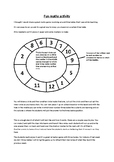 Multiplication maths wheel game