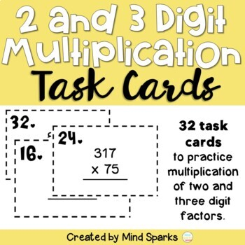Multiplication (multi-digit) Task Cards