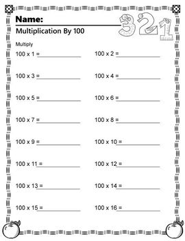 Multiplication of 100's