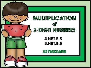 Multiplying 2-Digit Numbers Task Cards