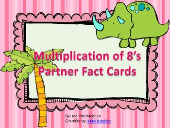 Multiplication of 8 Match Cards