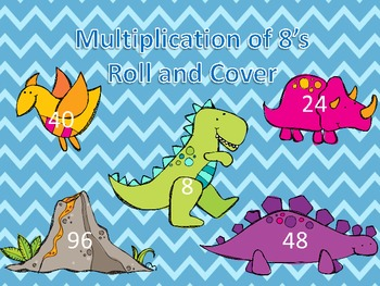 Multiplication of 8's Roll and Cover