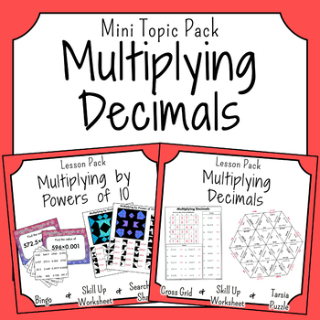 Multiplication of Decimals Activities