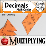 Multiplication of Decimals Self Checking Math Center