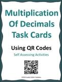 Multiplication of Decimals TASK Cards Using QR Codes