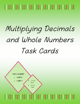 Multiplication of Decimals and Whole Numbers *30 task card