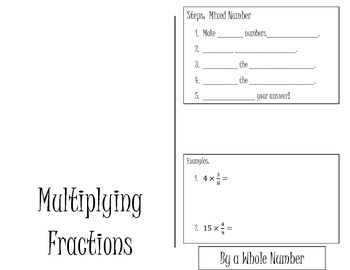 Multiplication of Fractions Flipbook