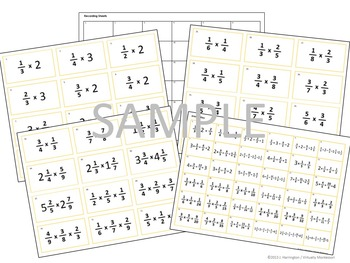 Multiplying Fractions Problem Tickets