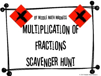 Multiplication of Fractions Scavenger Hunt