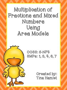 Multiplication of Fractions and Mixed Numbers Area Models 5-NF4