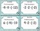 Multiplication of Integers Task Cards