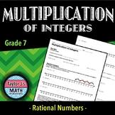 Multiplication of Integers Worksheet