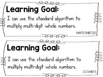 Multiplication of Multi Digit Numbers {FREEBIE}