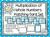 Multiplication of Whole Numbers Matching Card Set - Up to