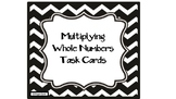 Multiplication of Whole Numbers QR Code Task Cards