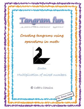 Multiplication of mixed numbers- Tangram Fun