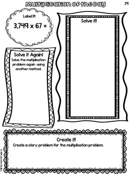 Multiplication of the Day for Upper Grades {Free!}