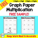 Multiplication on Graph Paper - FREE SAMPLE Pack