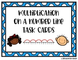 Multiplication on a Number Line Task Cards OA