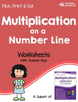 Multiplication on a Number Line Worksheets with Answer Keys