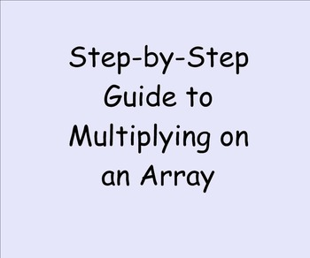 Multiplication on an Array vs. US Algorithm SMARTnotebook