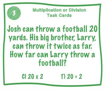 Multiplication or Division Riddle Task Cards
