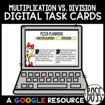 Choosing Operations: Multiplication or Division Task Cards