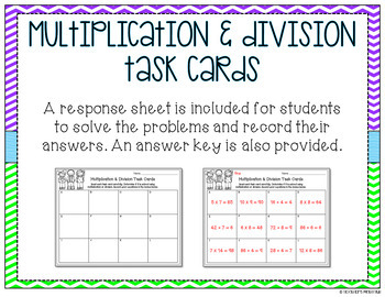 Multiplication or Division? Task Cards