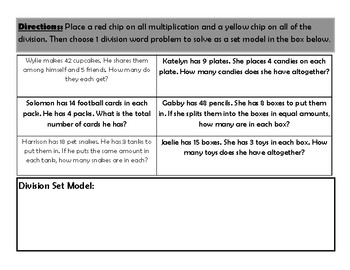 Multiplication or Division Word Problems