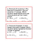 Multiplication or Division with missing part