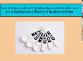 5.NF.6 & 5.NF.7 Multiplication or division of fractions mixed review lesson FLIP
