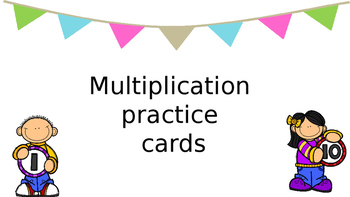 Multiplication practice cards