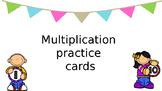 Multiplication practice cards