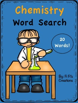 chemistry word search teaching resources teachers pay teachers