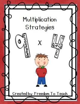 Multiplication strategy flash cards, teaching sheets, fluency test, and posters!