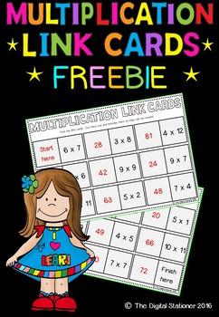 Multiplication Link Cards - Maths
