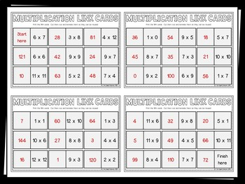 Multiplication Link Cards - FREEBIE